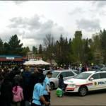 De politie moest tussenbeide komen na de kebab chaos
