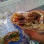 """Turkish Shawerma Sandwich"" bij Rotana Kebab, San Francisco."